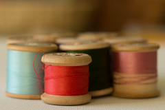Cotton Reels (jillyspoon) Tags: wood old thread spools canon vintage 50mm prime wooden dof sewing craft retro depthoffield cotton cylinder haberdashery spool reels bobbins cylindrical cottonreels niftyfifty hobb canon60d dewhirst