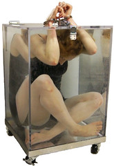 Dayle Krall's Full View Water Cell Escape (Dayle Krall:Most Accomplished Female Escape Artist) Tags: water underwater plexiglas handcuffs houdini fullview smithwesson breathhold daylekrall femaleescapeartist ladyhoudini sherryandkrallmagic