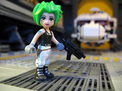 Punkrock Girl (M.R. Yoder) Tags: friends girl paint lego space punkrock custom deadmilkmen minidoll