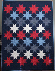 Stars Abound quilt (A Bright Corner) Tags: blue red white starquilt bedquilt patrioticquilt toddlerquilt