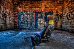 Cops (Ebbs2) Tags: art abandoned minnesota graffiti chair cops mn rosemount umorepark canon40d tamronspaf1024mmf3545diiildasphericalif