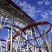 Rollercoaster at Universal Studios theme park, Singapore