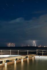 Storm (Ben Coope) Tags: seascape storm multipleexposure lightning startrails narabeen