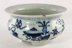 "16. Antique ""1000 Antiques"" Chinese Planter"