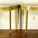 228. Pair of French Demilune Tables with Faux Marble Tops