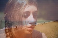 Untitled (Leigh Anne Brader) Tags: girls light eye beach girl hair skin lips multipleexposure human morgan
