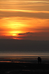Sunset walk (jacqui barry) Tags: sunset west beach kirby wirral