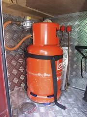 Gas bottle locker with bulkhead mounted regulator & shutoff taps (Mudman101) Tags: fiat motorhome ducato