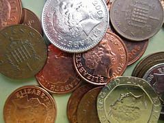 money (gagilas) Tags: money coins queen british reverse pounds averse