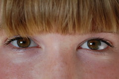(you can celebrate anything you want) Tags: portrait woman brown eye girl face hair nose eyes pretty open lashes bangs