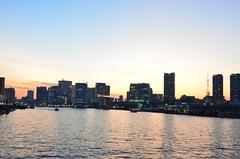 (keiko.com) Tags: sunset sky japan buildings tokyo nikon ship cityscape tsukiji    gettyimages tsukijimarket sumidariver   d7000