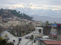 Birds flying over Berat II (MrAlbalover) Tags: hotel albania lumi palma 2012 berat rruga universiteti osum tomorri beratit antipatrea