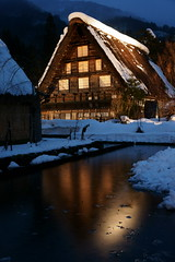 Lighting of Shirakawago (peaceful-jp-scenery) Tags: night sony   unescoworldheritage shirakawago    gassyostyle     dslra900 sal2470z shirakawamura variosonnart2470mmf28za