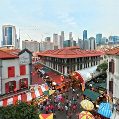 X town (Jazpar) Tags: sunset panorama festival singapore chinatown dragon cityscapes chinesenewyear stitching hdr goldenhour tiring xtown