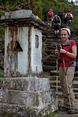 Buddist shrine by the footpath (Michał Olszewski) Tags: nepal shrine asia land himalayas acap religiousbuildings gandaki kaski annapurnaconservationarea annapurnaconservationareaproject