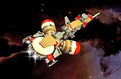 UTV Bolon T'sakab Space Scene (halfbeak) Tags: lego space future scifi starship moc microspace ftl microscale krasnikov