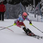Teck Enquist Slalom, January 2012, Mt. Seymour - Stefanie Fleckenstein (WMSC)  PHOTO CREDIT: Steve Fleckenstein