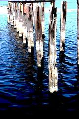 Pier Reflections I (Karen Kleis (Back Sunday!)) Tags: water reflections pier florida posterized sanford sanfordfl oldpier arteffects