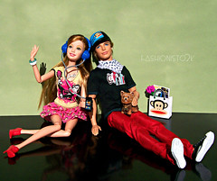 Barbie 's Paul Frank (fashionisto2k) Tags: summer dog yorkie fashion bag dolls ken barbie clothes nicholas accessories paulfrank mattel articulated fever fashionistas articulation fashionfever barbielovespaulfrank