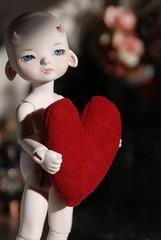 Lume Moon, 'Io' sculpt (Sioux the Moo) Tags: moon cute heart goat mini valentine io cheeks demon bjd pan resin dollfie lume chubbychops yosd lumedoll