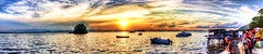 Melawai Jan 2012 Sunset Panorama (Mythgarr) Tags: beach canon eos tripod hdr 450d melawai