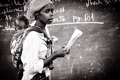 The Teacher (gunnisal) Tags: africa child mother teacher blackboard mozambique literacy gunnisal