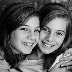 Peas in a pod (Jacqueline Boyle) Tags: girls sisters twins eyes nikond5000
