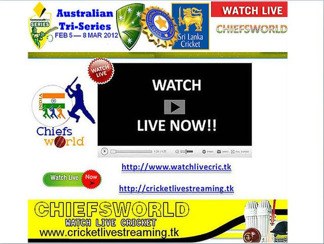 live tri series 2012 in australia
