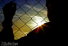 HOPE (Zaina Al-Sanea) Tags: blue sunset sky orange photography freedom free silhouetted prisoner zaina alsane alsanea