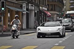 Rush Hour in Geneva (KlausKniehase / KneeRabbit) Tags: white schweiz switzerland geneva 4 lp lamborghini gallardo genf superleggera 570 lp5704