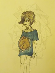 bear. (:nostalgia:) Tags: bear blue brown abstract art girl cub sketch lyrics pregnancy doodle indie theantlers doodlesketchartabstractindiebluebrown