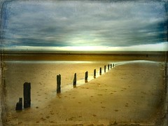 late in the day (And Soon the Darkness) Tags: uk sunset sea england texture beach clouds coast seaside sand norfolk northsea groynes brancaster motat tatot magicunicornverybest mygearandme mygearandmepremium mygearandmebronze blinkagain