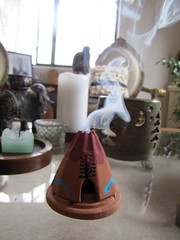 incense of the West (Jamila BC) Tags: smoke nativeamerican teepee coffeetable incense tablescape
