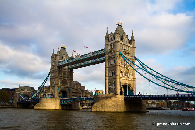 Tower Bridge From Thames South End, London