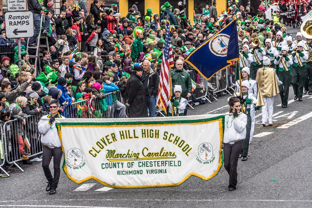 Clover Hill High School, Virginia, USA - Perform At The St. Patrick's Day Parade In Dublin