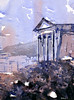 Dougga2 (rfoxphoto) Tags: africa old city travel blue watercolor painting outside temple ancient ruins tunisia unesco watercolour spattering romanruins dougga ryanfox watercolorpainting watercolourpainting wetinwet douggatunisia