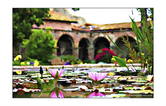 Cezanne @ Mission SJC (Emet Martinez Photography) Tags: painterly fountain waterlilies canon5d missionsanjuancapistrano sanjuancapistrano onone koipond photoartwork emetmartinez topazsoftware emetmartinezphotography emetmartinezcom topazimpression cezannebrushstrokes