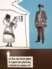 ? (YOUGUIE) Tags: streetart sticker lp albania autocollant kruje shqiperia albanie leopipo leoetpipo
