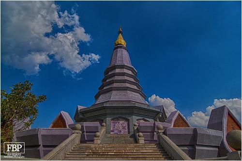 -Two Chedis, Doi Inthanon, Chiang Mai, Thailand-