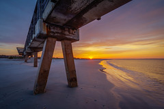 Last second of light (MichaelSOwens) Tags: park sunset beach last pier state florida fort rays hdr fernandina clinch
