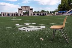 Seat On The 50 Yard Line (rickhanger) Tags: abandoned urbex urbanexploration stadium abandonedstadium rubberbowl akronohio universityofakron zips 50yardline rickhanger