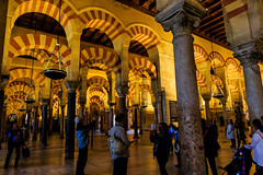 La Mezquita de Crdoba - the Great Mosque-Cathedral - horseshoe arches influenced by Roman aqueducts, foundational mosque area of 786 AD (peripathetic) Tags: building architecture canon buildings spain cathedral catedral mosque espana moorish mezquita 5d crdoba 2016 mezquit 5dmkiii 5dmk3 canoneos5dmk3