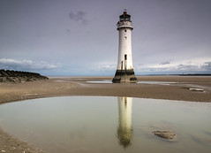 New Brighton Lighthouse (David Chennell - DavidC.Photography) Tags: lighthouse reflection wirral newbrighton merseyside newbrightonlighthouse