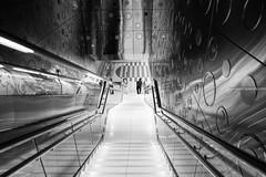 ACA_212 (www.arcigaandy.com) Tags: blackandwhite white monochrome lines creativecommons fujifilm metrostation leadinglines metrolife blackandwhitestreetphotography dubaimetrostation fujifilmxe2 fuujifilm18mmf2r