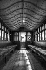 Hull Transport Museum (Tom Shearsmith Photography) Tags: bw museum architecture train photoshop photography carriage seat transport tram kingston shutter hull tone hdr humber artefact tonemap