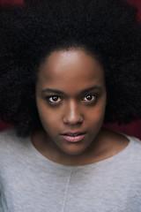 Gaia (Arianna Ceccarelli Photography) Tags: red portrait people woman girl beautiful beauty fashion dark hair photography grey nice model eyes photographer makeup lips brazilian lovely