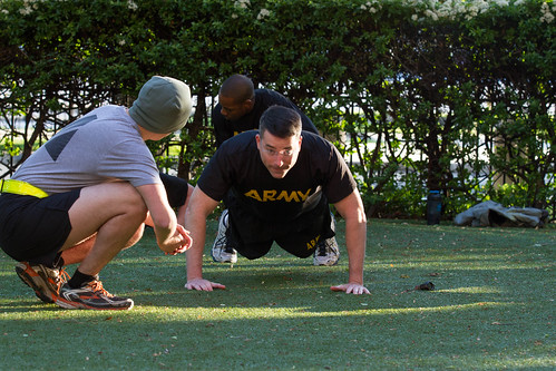 Army Physical Fitness Test at M&T Bank Stadium