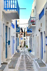 Mykonos tipical street and houses (fabriziocaradonna) Tags: city colour beautiful island europe culture greece lanscape