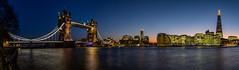 London Calling (NoVice87) Tags: panorama london night towerbridge lowlight bluehour shard riverthames stitched morelondon
