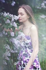 Olga (lucrecia lee) Tags: flowers summer portrait woman sexy beautiful beauty face fashion bigeyes spring pretty longhair sensual shoulders seductive youngwoman stylish subtle fulllips